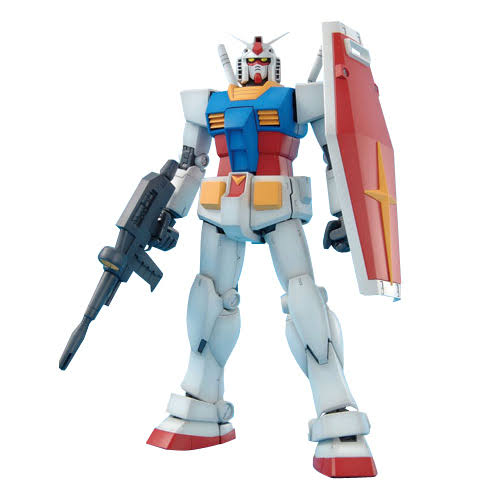 Bandai MG Rx-78-2 Gundam Ver 2.0 Plastic Model Kit - 1/100 Scale