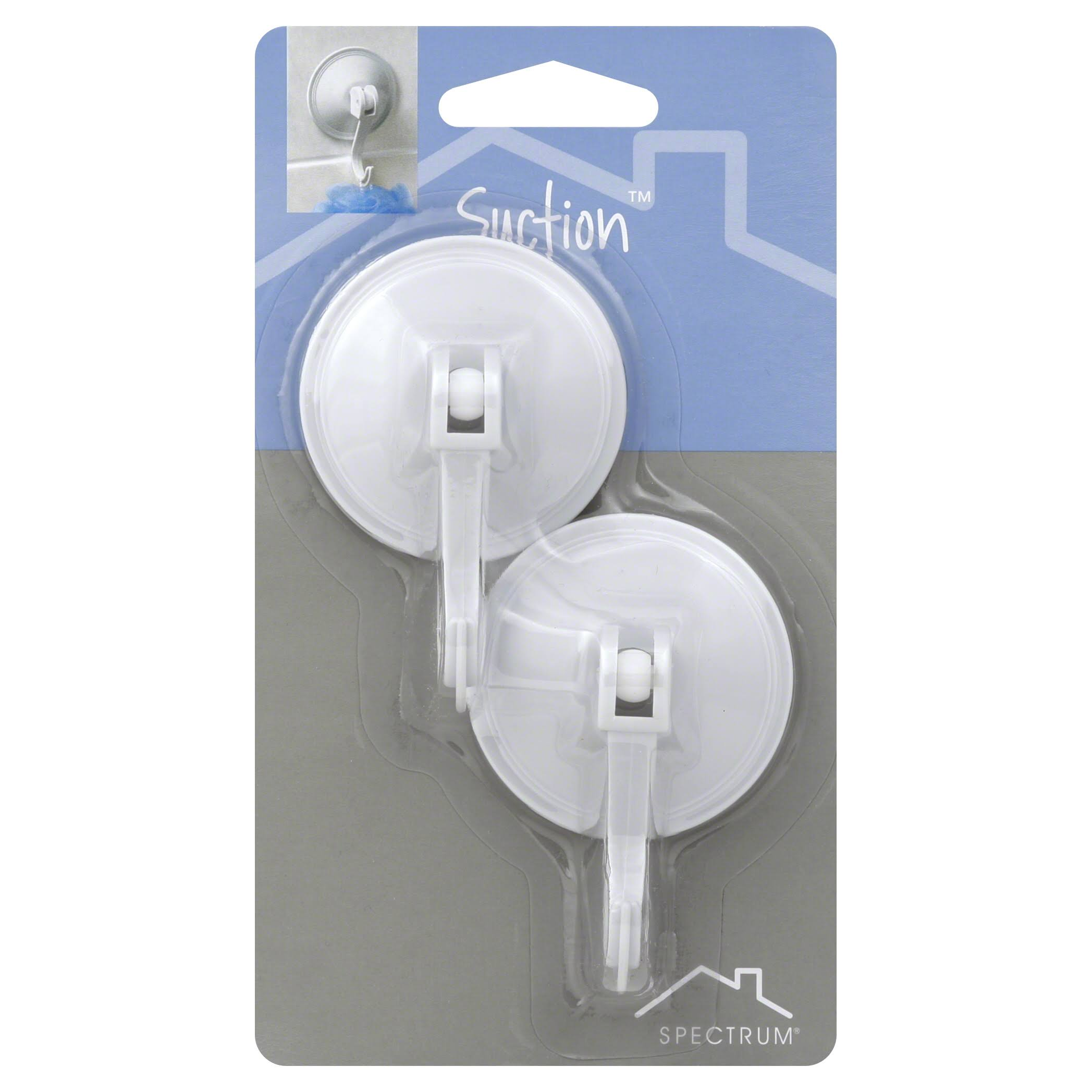 Spectrum Diversified 15600 Suction Hooks with Locking Hook - White