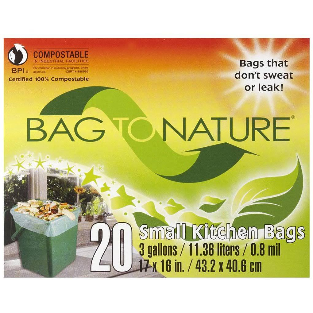 Indaco Bag-To-Nature Compostable Bag And Liner - 20 bags, 3 gallons