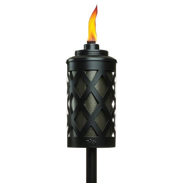 TIKI 1116071 Urban Outdoor Torch - Metal Black, 65""
