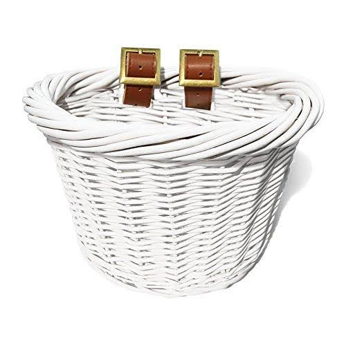 Colorbasket 01433 Junior Front Handlebar Wicker Bike Basket White