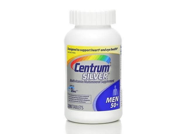 Centrum Silver Men 50 Plus Multivitamin Supplement - 200 CountCentrum Silver Men 50 Plus Multivitamin Supplement - 200 Count