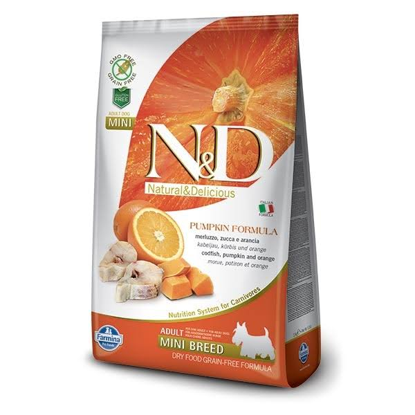 N&D Pumpkin Grain Free Adult Mini Dog Food - Codfish & Orange