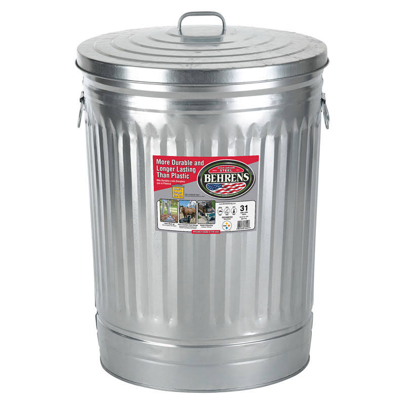Behrens Trash Can with Lid - 31 Gal