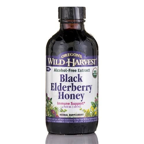 Oregon's Wild Harvest Black Elderberry Honey Supplement - 4oz