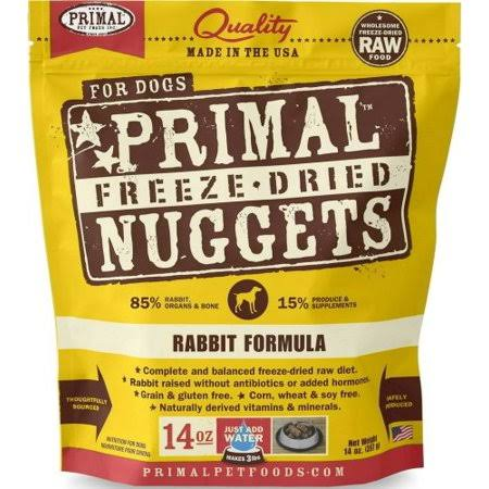 Primal Freeze Dried Rabbit Nuggets Dog Food - 14oz