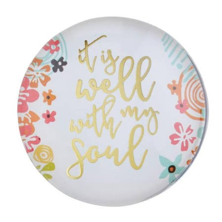 2 Christian Brands F2197 Magnanimous Round magnet-c - It Is Well ($2.80 @ 2 min)