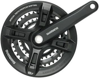 Shimano Altus Crank Set - Black, 170mm