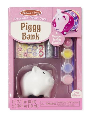 Melissa & Doug Decorate-Your-Own Bank Kit - Piggy