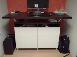 Kullen Dresser From Ikea by Beautiful Standing Desk Made From Besta Cabinets And Capita Legs
