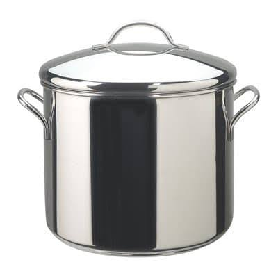 Farberware Classic Series Stock Pot - with Heat Resistant, 12qt, Stainless Steel