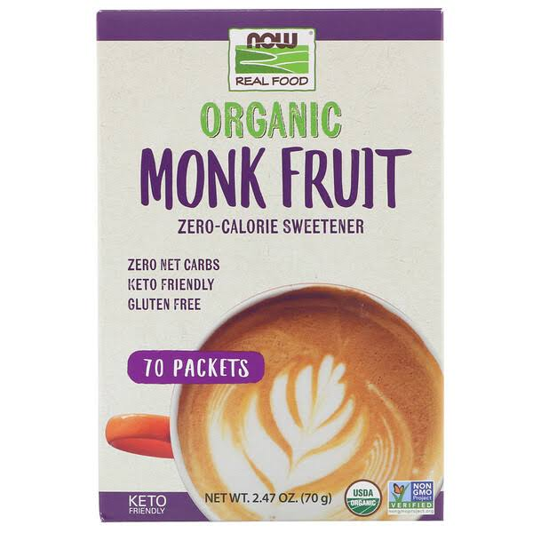 Now Monk Fruit, 70 Organic Packets