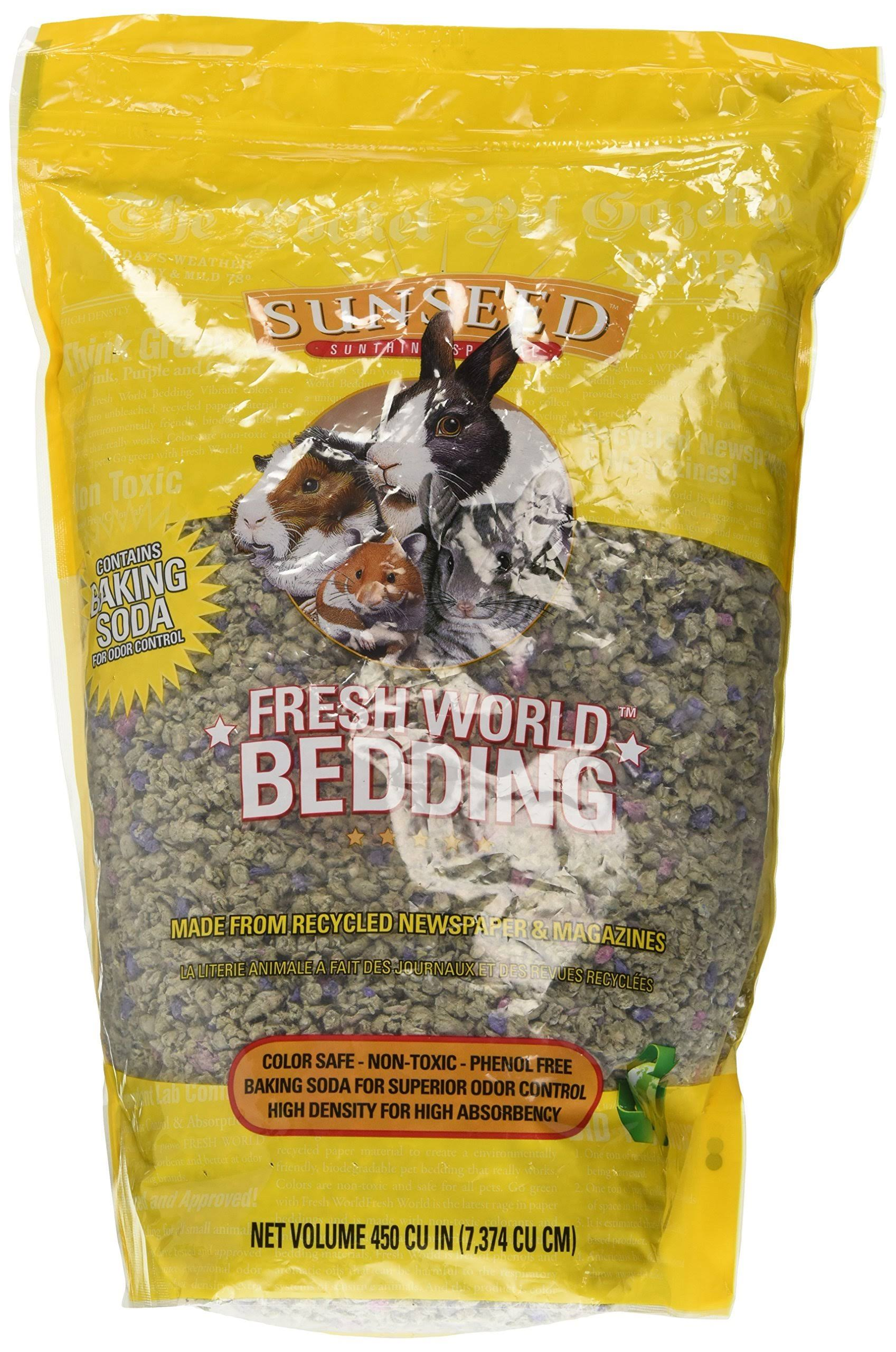 Sun Seed Company SSS18220 Fresh World Bedding Gray with Flecks - 4.25lbs