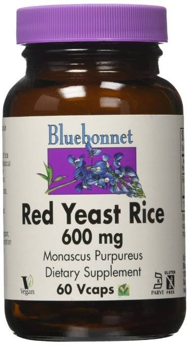 Bluebonnet Red Yeast Rice Supplement - 600mg, 60 Vegetable Capsules