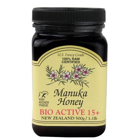 Pacific Resources International Manuka Honey, Bio Active 15+ - 17.6 oz jar