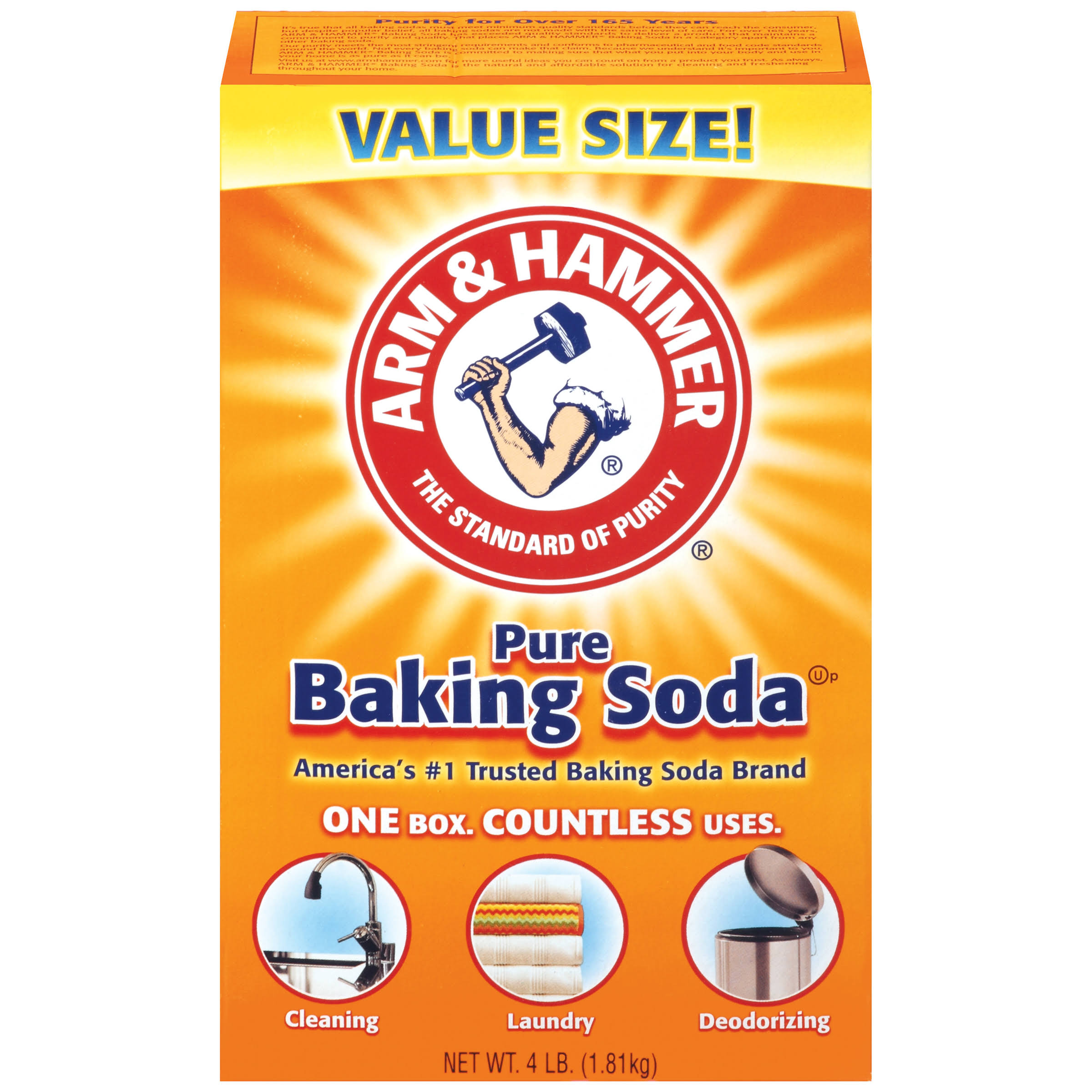 Arm and Hammer 01170 Pure Baking Soda - 4lb