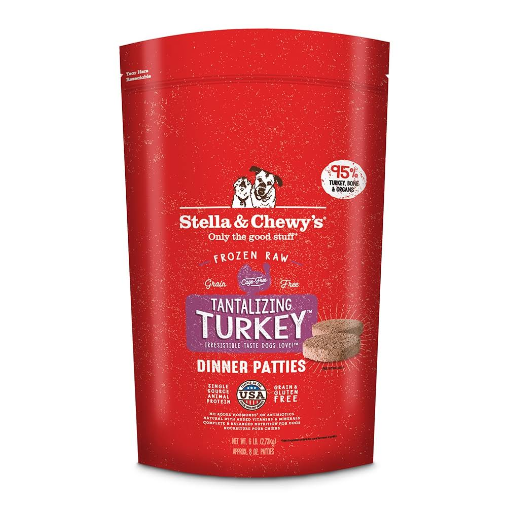 Stella and Chewy's Stella Frozen Dog Food - Turkey, 18oz