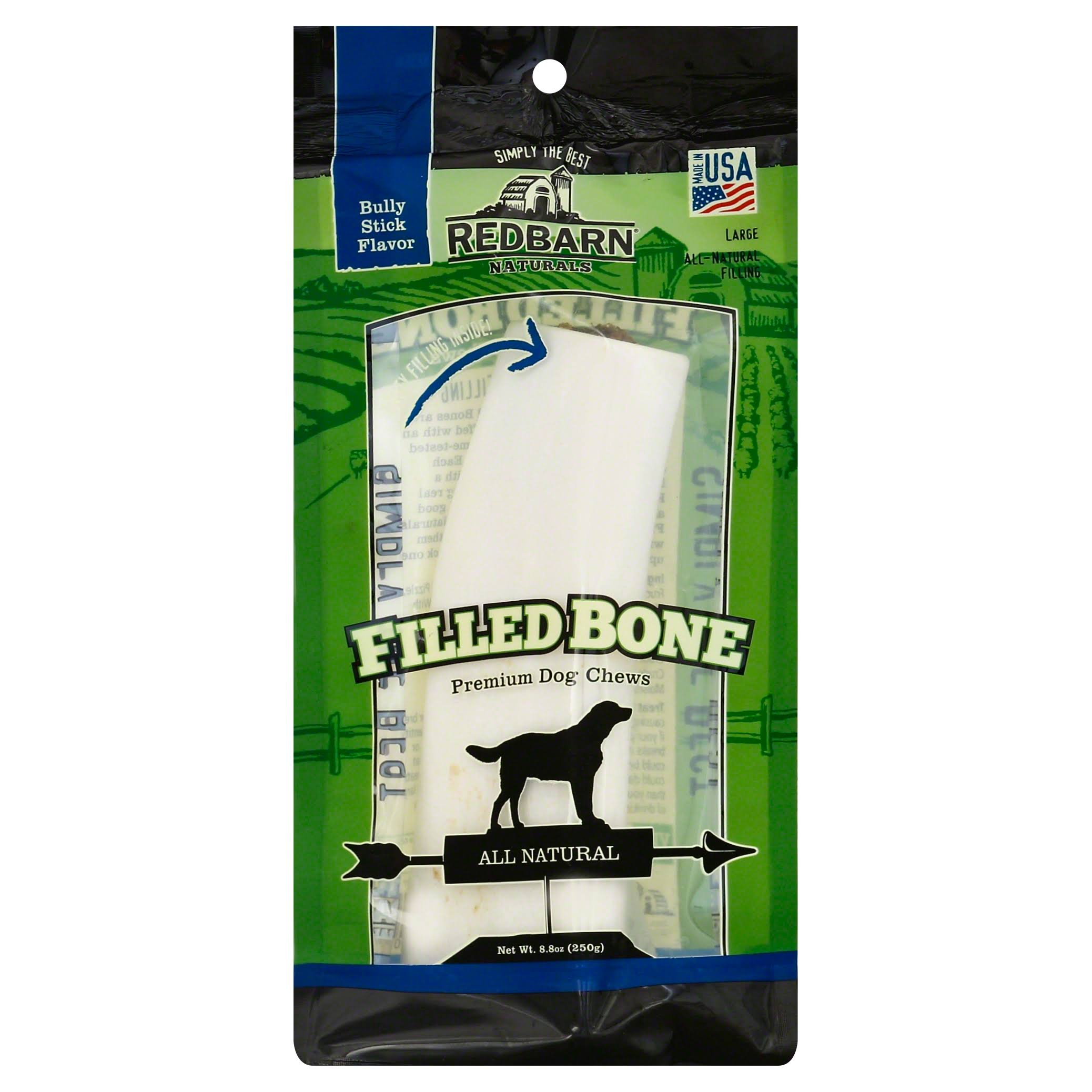 Red Barn Pet Products Natural Filled Bone Dog Treats - 6""