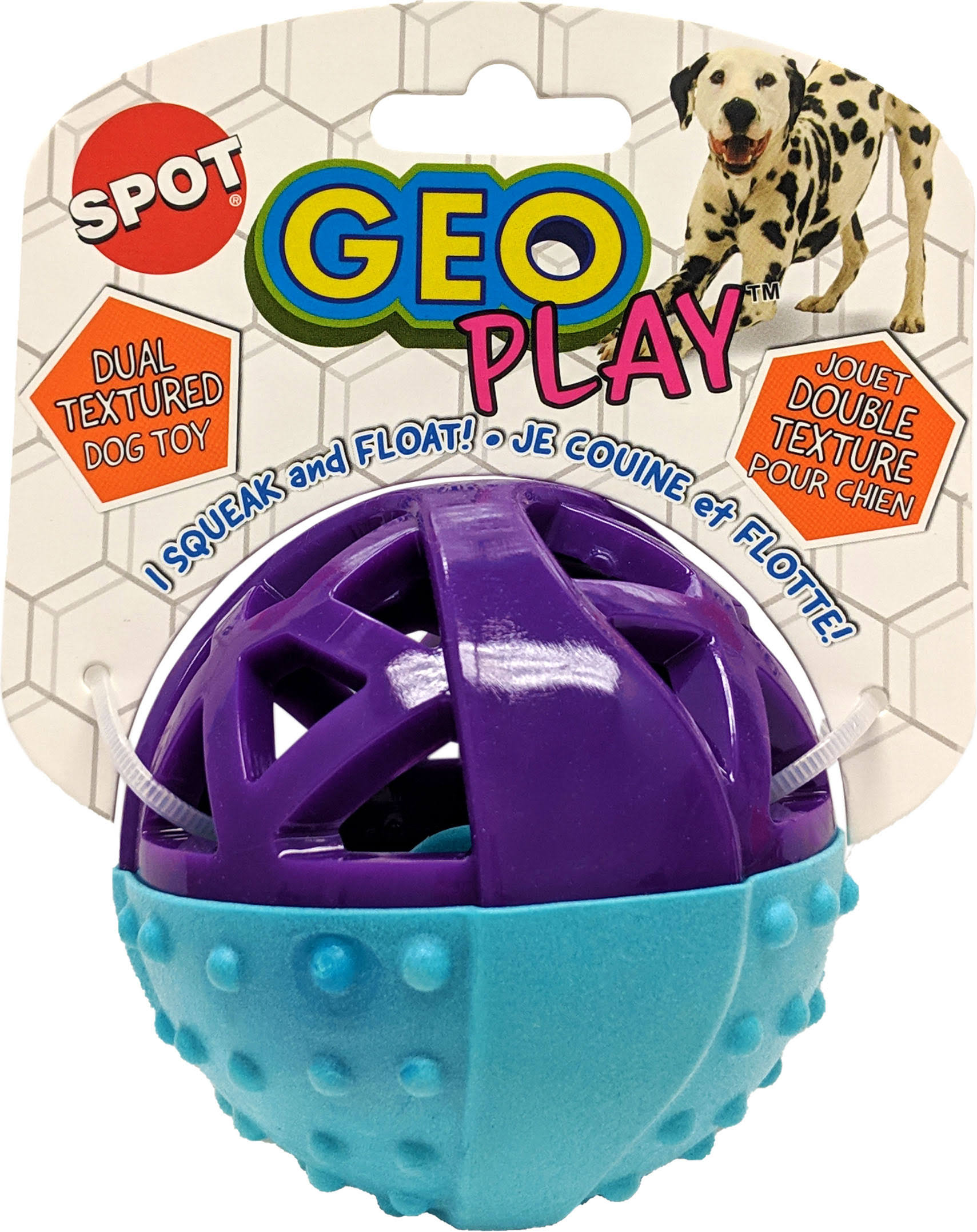 Ethical Dog 54531 Geo Play Ball, Assorted, 3.5 inch