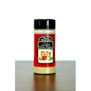 Pack of 12 Spice Supreme Pure Ground White Pepper Seasonings 1.75 oz.