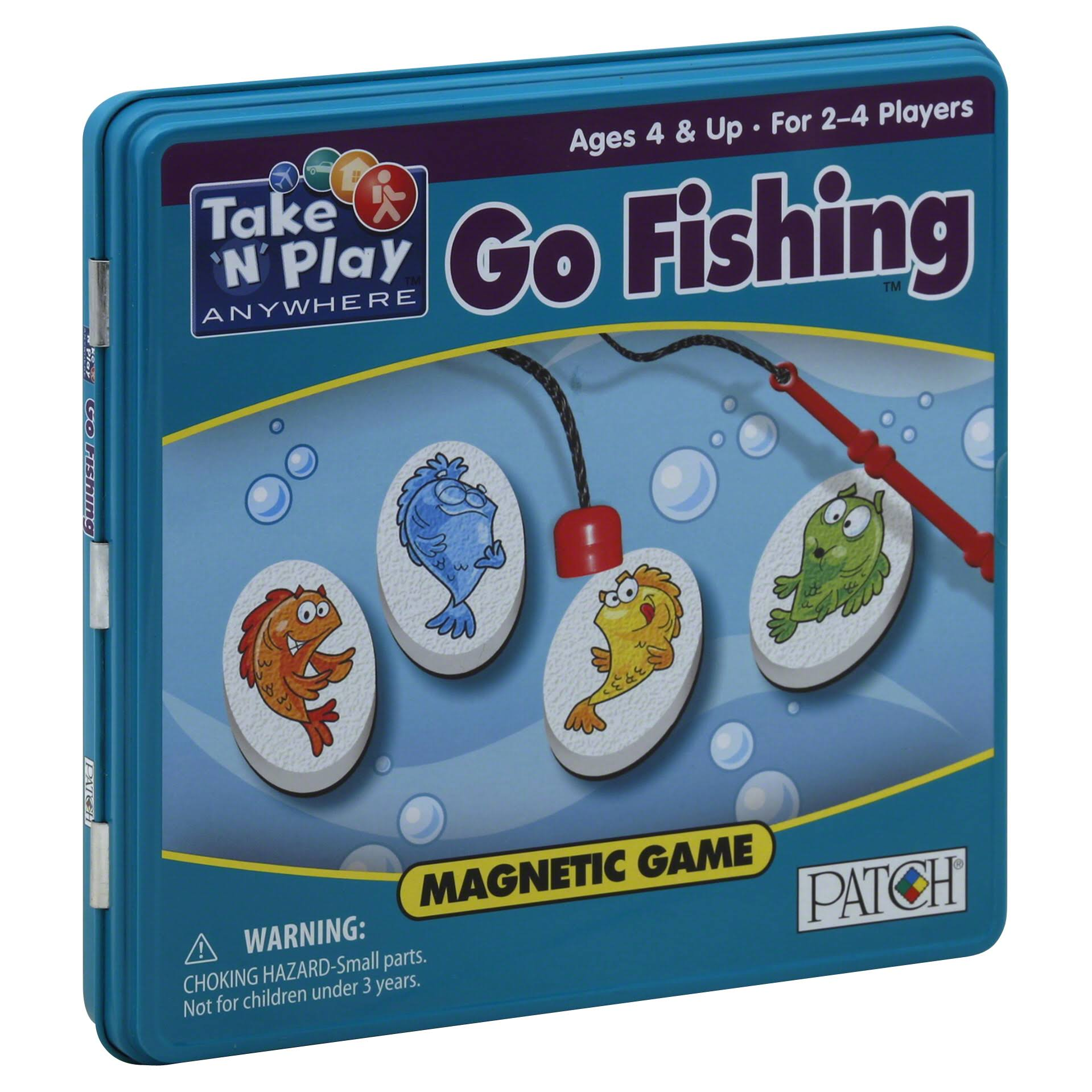 Patch Take 'N' Play Anywhere Go Fishing Magnetic Game