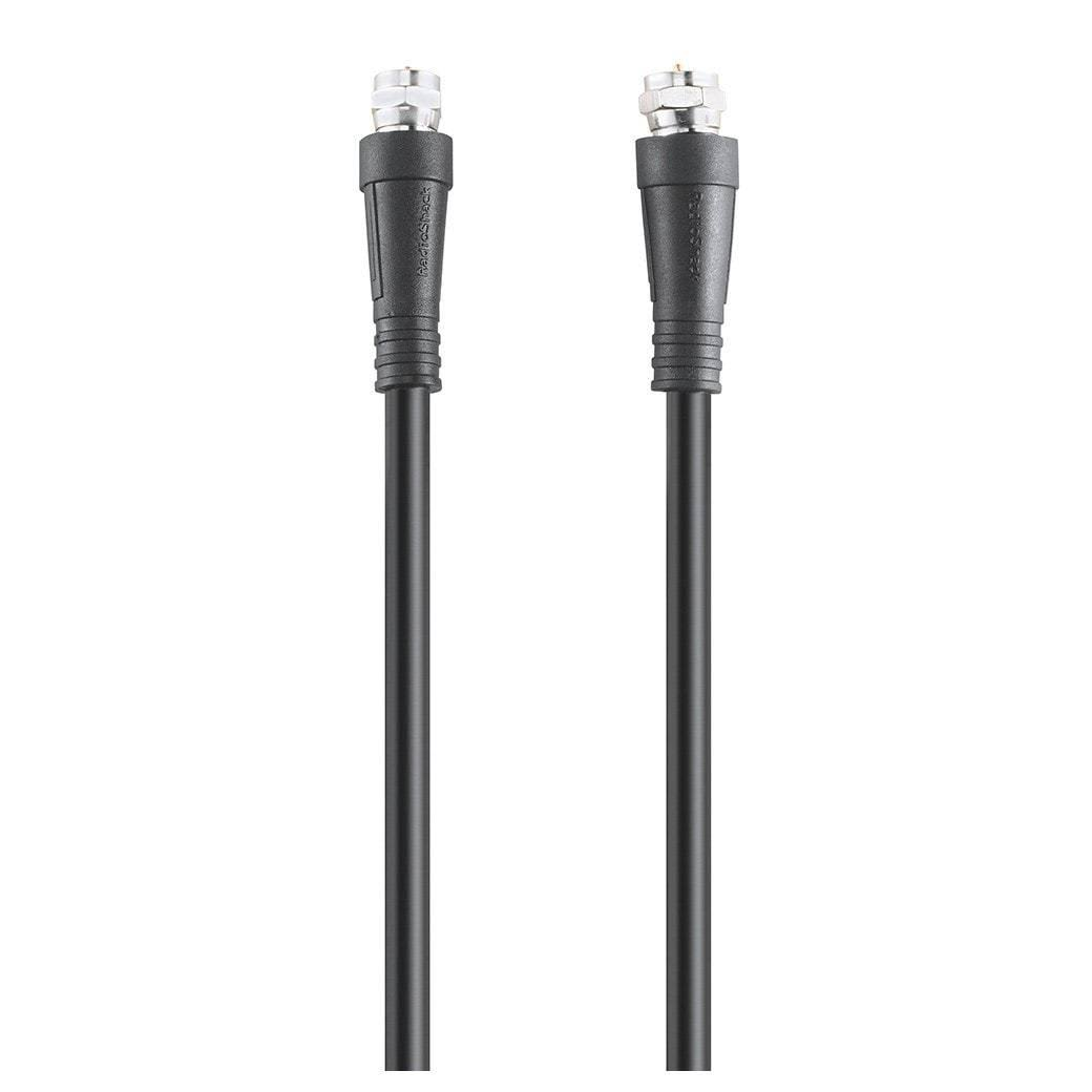 RadioShack Coaxial Cable - Black, 3'