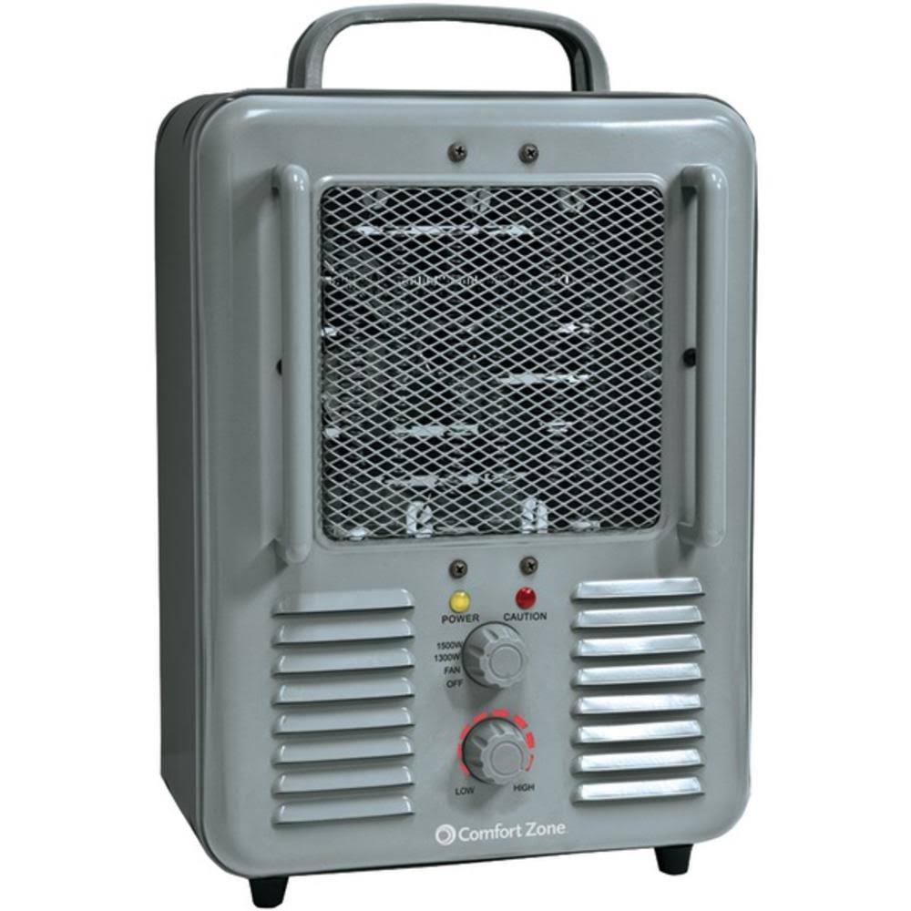 Comfort Zone Multi Purpose Utility Heater Fan - Gray