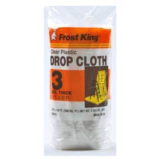 Thermwell P311R Frost King Clear Plastic Drop Cloth - 9' x 12', 3mil