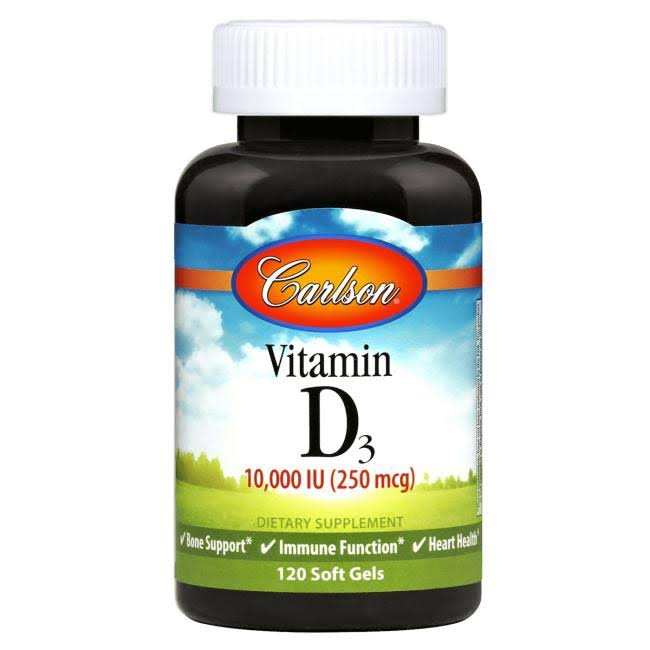 Carlson Labs Vitamin D3 Natural - 10,000 IU, 120 Softgels