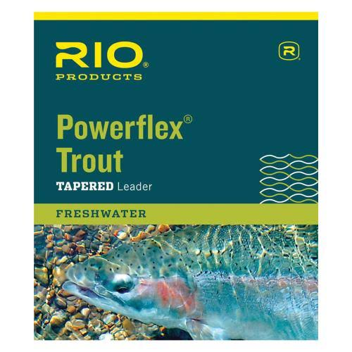 Rio Powerflex Fly Fishing Trout Tapered Leaders Line - 9', 3lbs