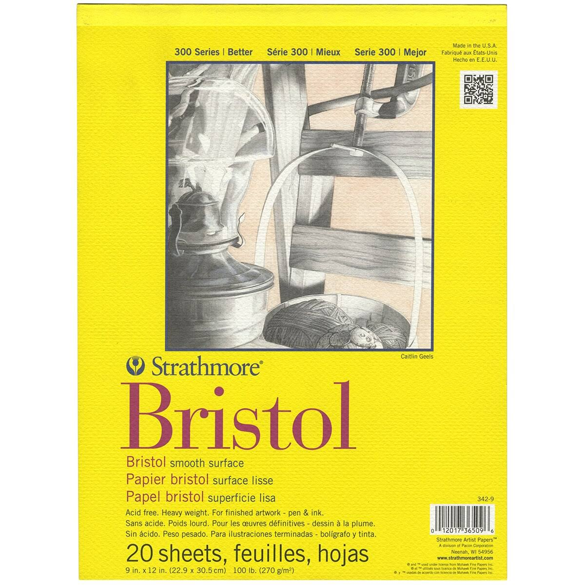 Strathmore Bristol Smooth Paper Pad - 20 Sheets