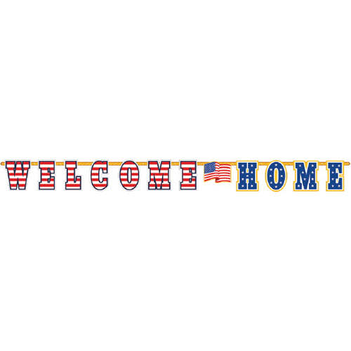 "Amscan Welcome Home Letter Banner - 2pk, 12.5""x11'"