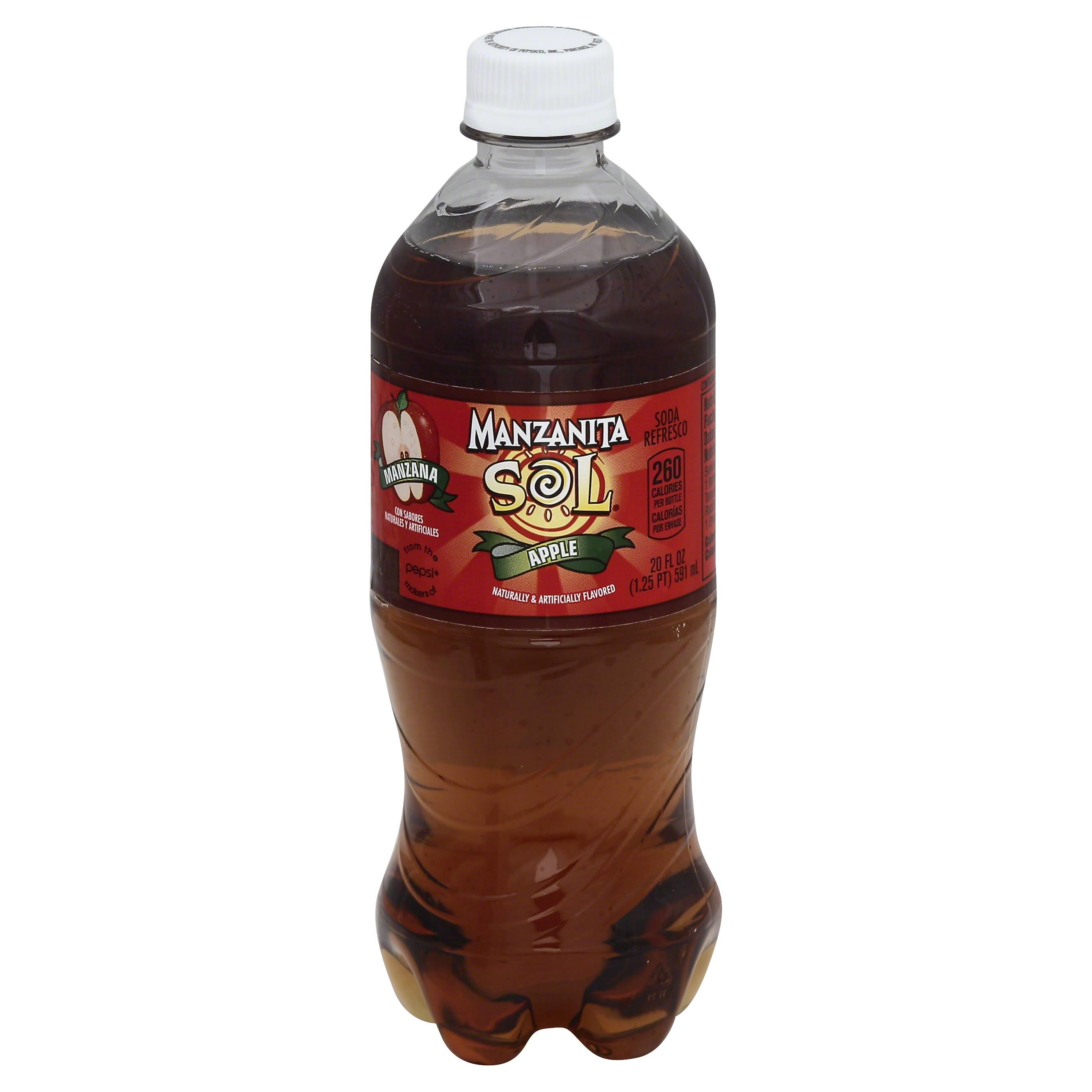 Manzanita Sol Soda - Apple, 20oz