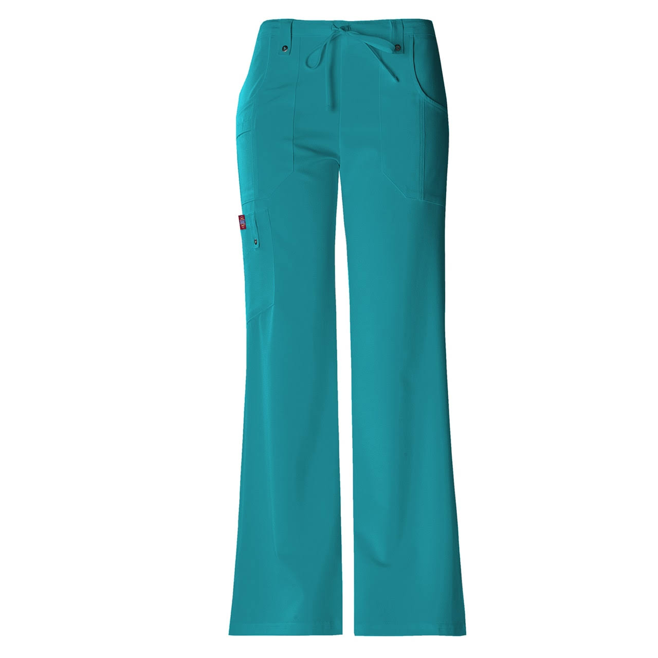 Dickies Xtreme Stretch Drawstring Flare Scrubs Pant - Teal, Large
