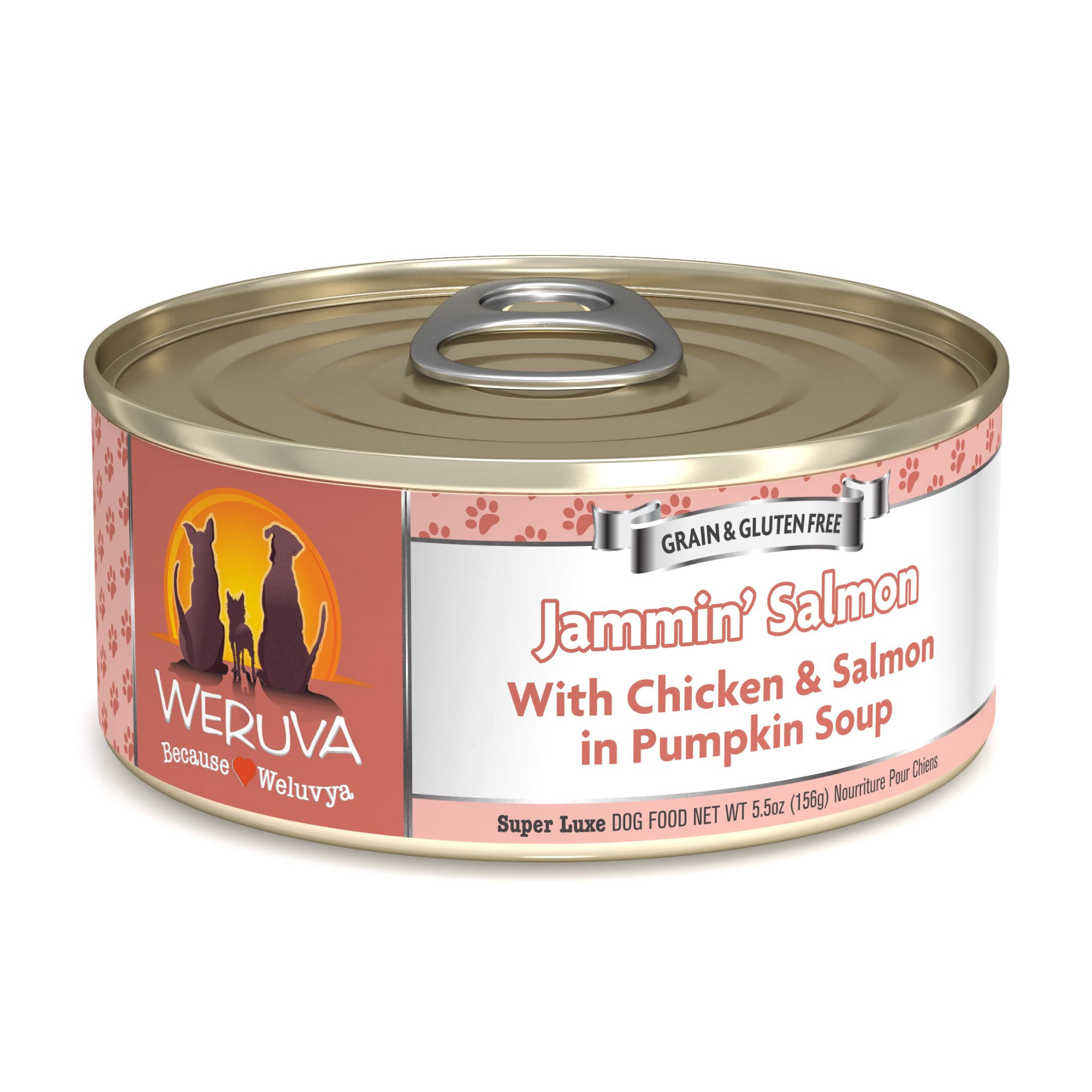 Weruva Jammin' Salmon Dog Food 5.5 oz