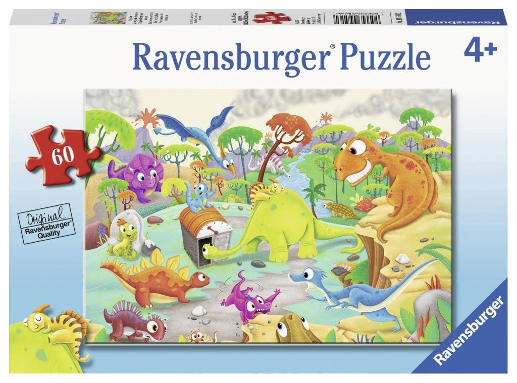 Ravensburger Time Traveling Dinos Puzzle - 60pcs
