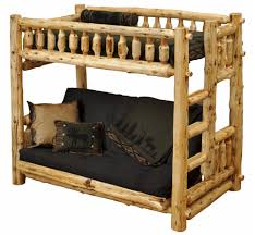 twin over futon cedar log bunk bed minnesota log futons the