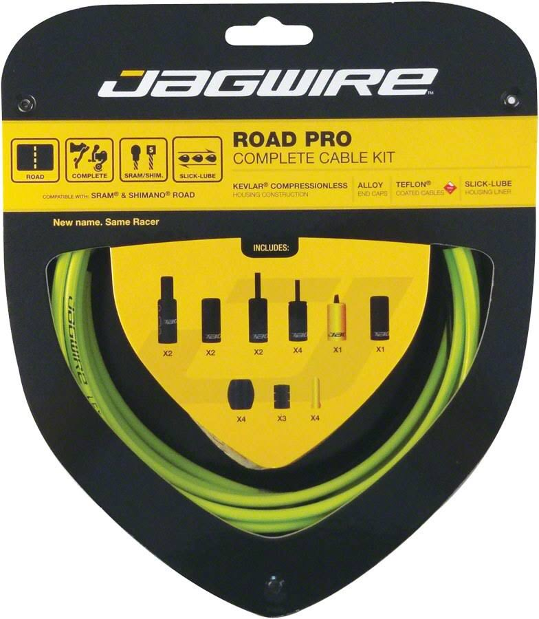 Jagwire Pro Road Brake/Gear Kit - Green