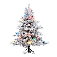 Vickerman Flocked Slim Christmas Tree by Amazon Com Vickerman Pre Lit Flocked Alaskan Pine Tree With 200