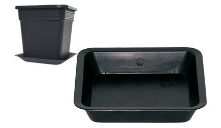 Gro Pro Black Square Saucer for 8 Gallon Pot