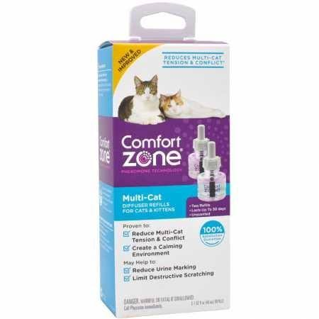 Comfort Zone For Cats and Kittens MultiCat Calming Diffuser Refills - 2pk