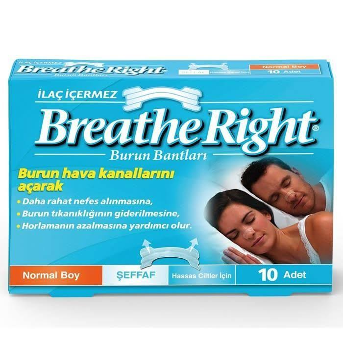 Breathe Right Nasal Strips - Clear, 10 Strips, Small Medium