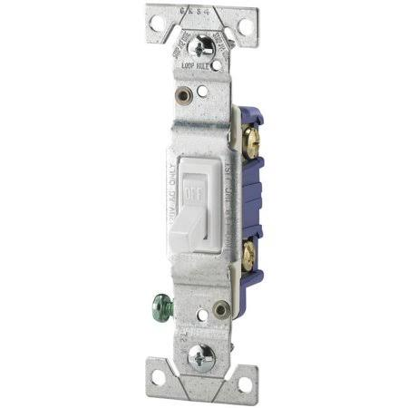 Cooper Wiring Toggle Switch - Non-Grounded, 15Amp