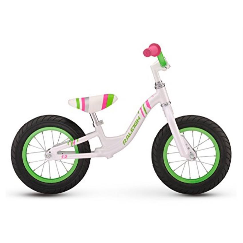 Raleigh Girls Lil Push Balance Bike - White, 12""