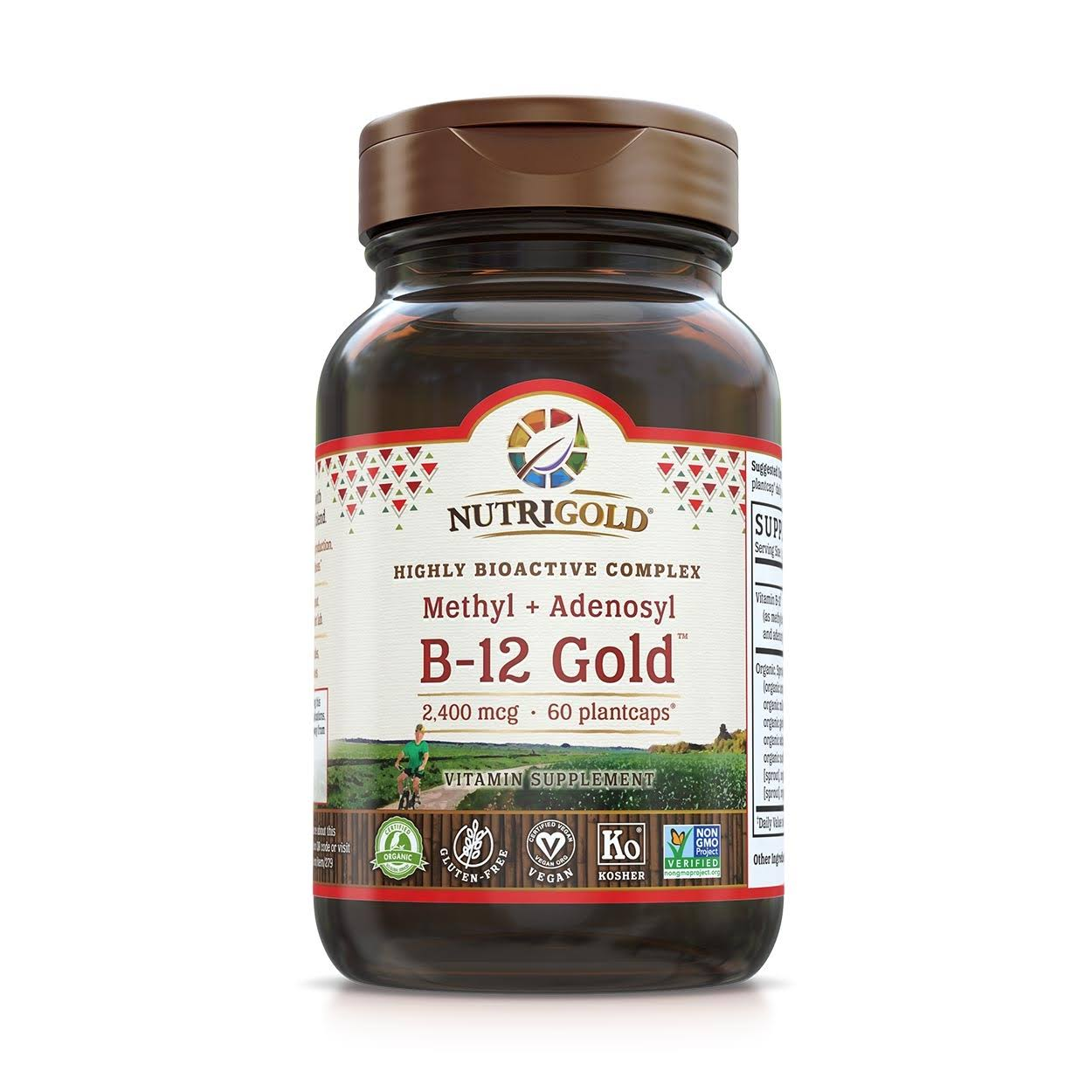 NutriGold Whole Food Vitamin B12 Gold - 2500mcg, 120ct