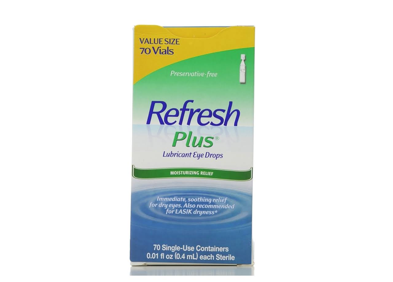 Refresh Plus Lubricant Value Size Eye Drops - 70ct, 0.01oz