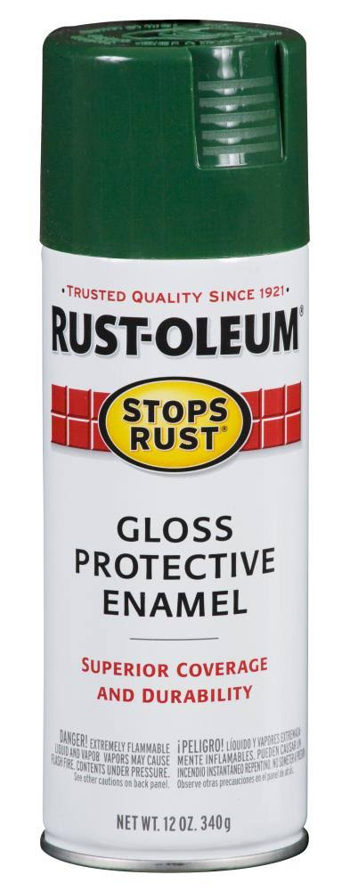 Rust-Oleum 7738830 Stops Rust Spray Paint - 12oz, Gloss Hunter Green