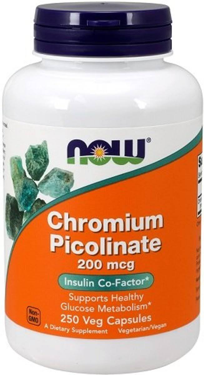 Now Foods Chromium Picolinate - 200mcg, 250 Capsules