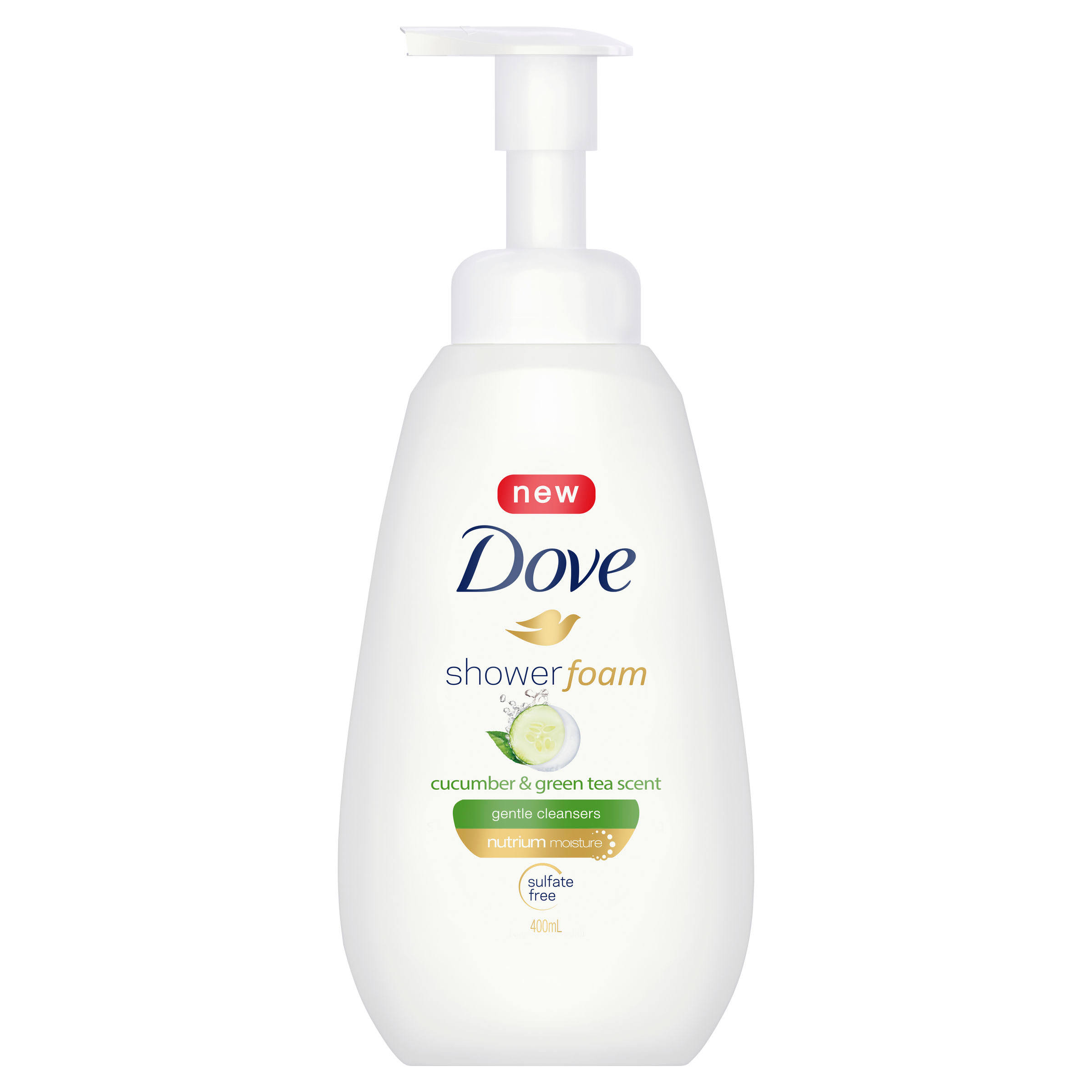 Dove Cucumber and Green Tea Scent Shower Foam - 13.5oz