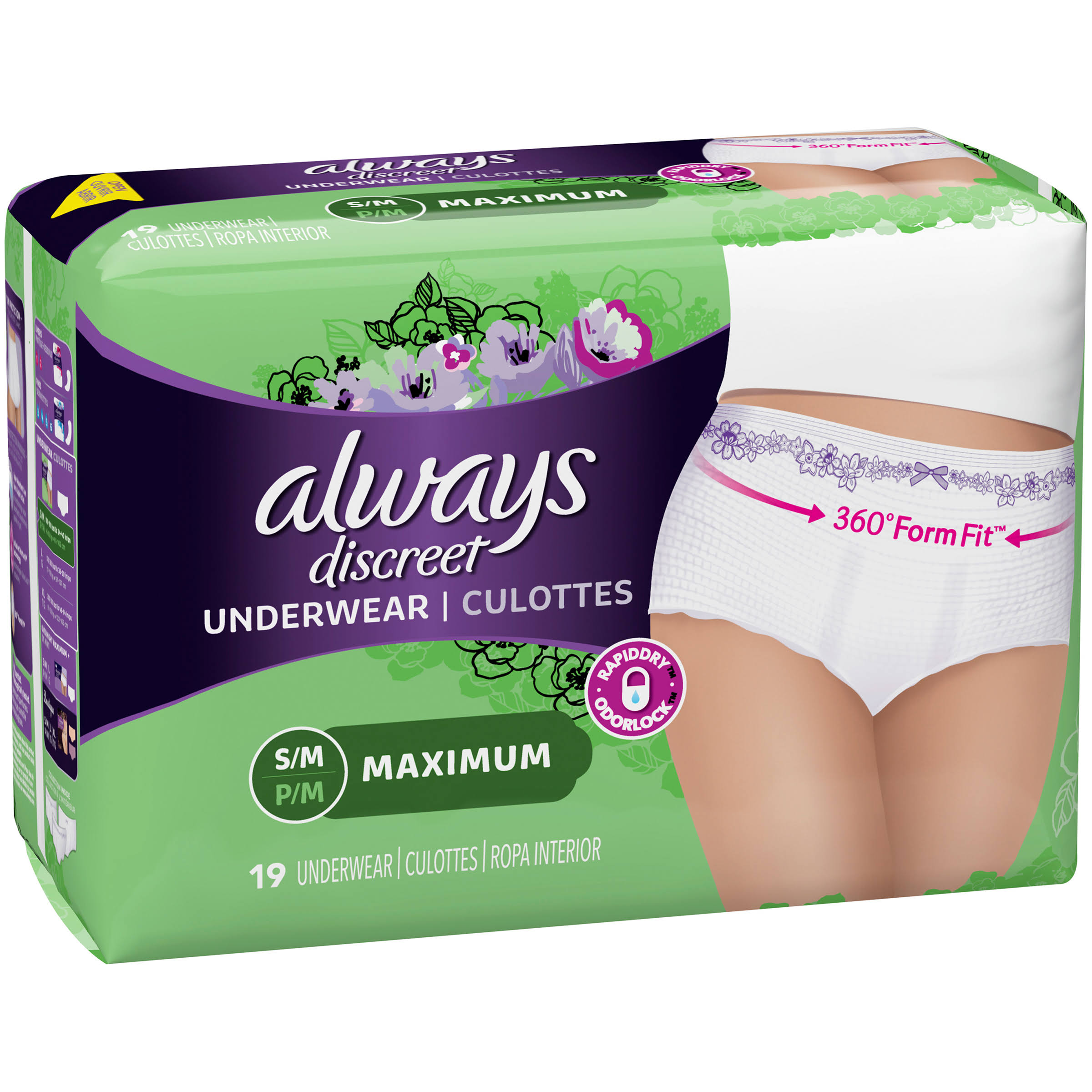 Always Discreet Underwear Maximum Classic Cut Underwear - Small-Medium, 19ct